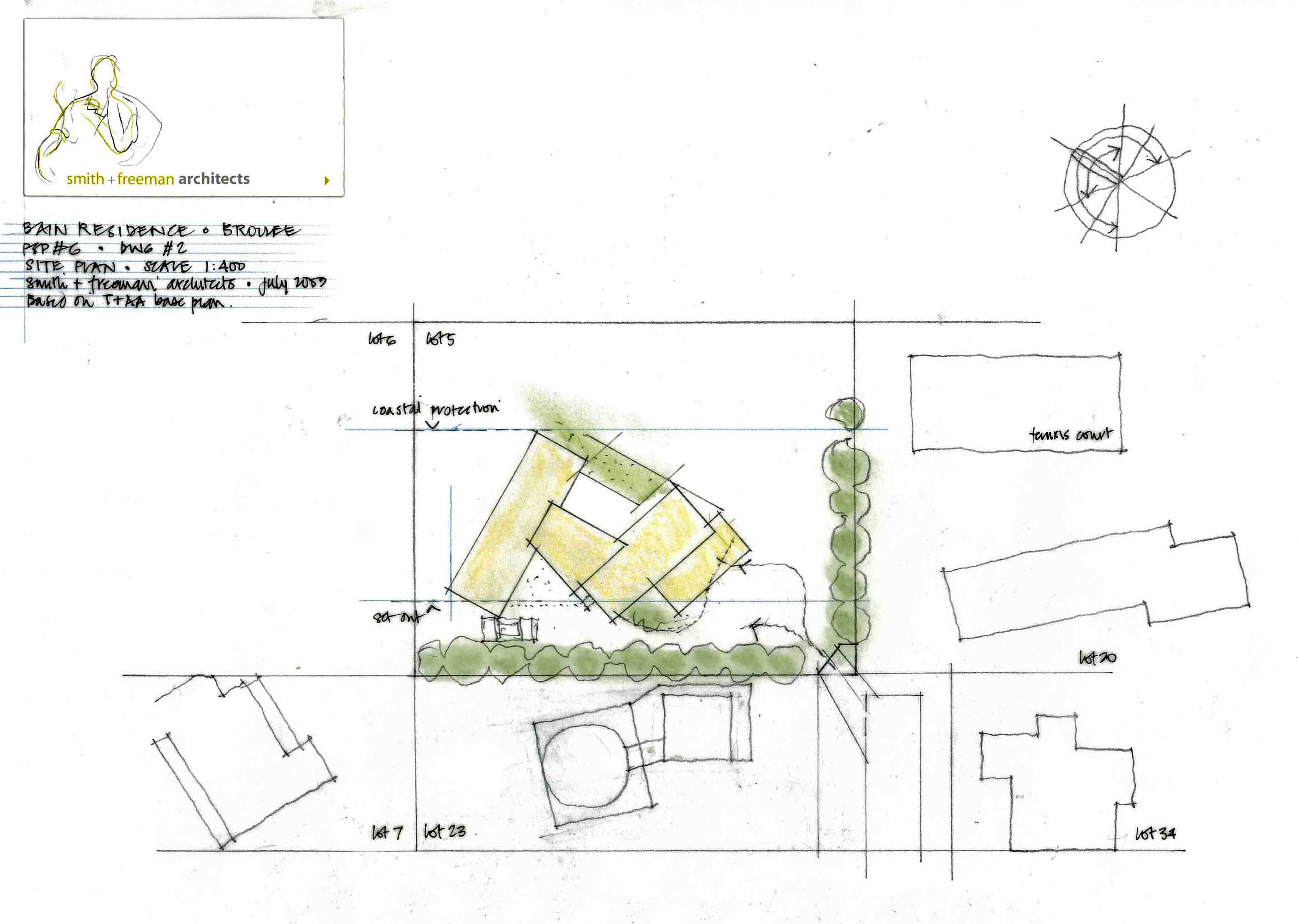 Site Plan of the Bain residence 2009