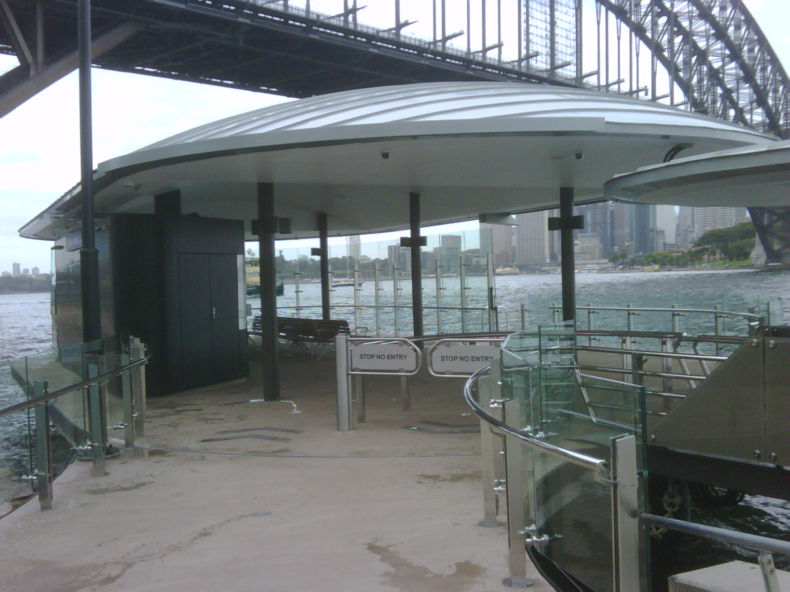 Milson Point new ferry wharf nearing completion 2011 group GSA photograph